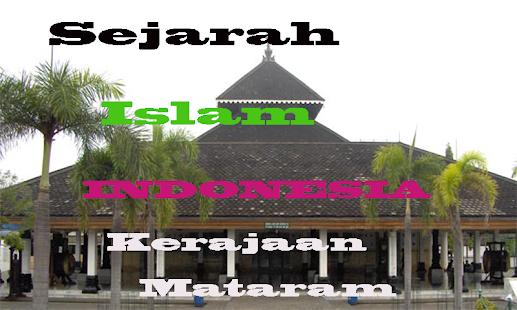 Sejarah Agama islam di Indonesia Kerajaan Mataram - náhled