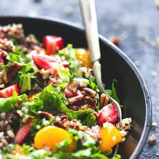 Mandarin Strawberry Quinoa Chopped Salad.