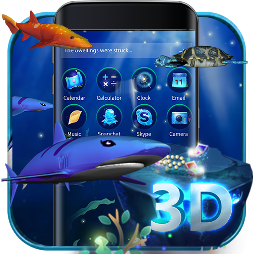 3D Ocean Aquarium Dynamic Fish Theme Skin file APK for Gaming PC/PS3/PS4 Smart TV