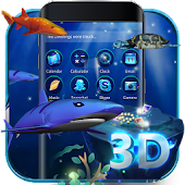 3D Ocean Aquarium Dynamic Fish Theme Skin