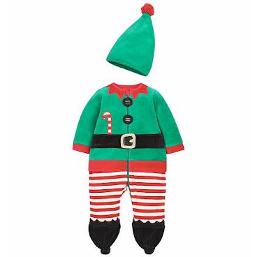Mothercare 聖誕精靈套裝加帽
