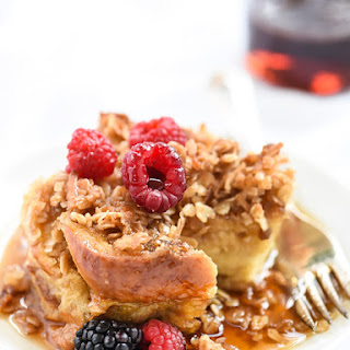 Coconut Baked French Toast with Oatmeal Crumble