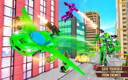 Flying Car Transformation Robot Wars Car Superhero 1