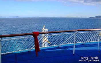 Photo: The ferry from Spain to Morocco. The coast on the left is Europe, on the right is Africa.