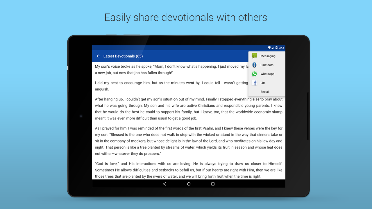 Daily Devotionals - screenshot