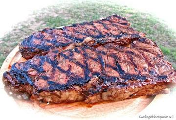 Nanshoe's Grilled Strip Steaks Recipe