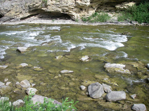 Photo: Lower Rattlesnake Rapid (RM 47.6) at about cfs 110.