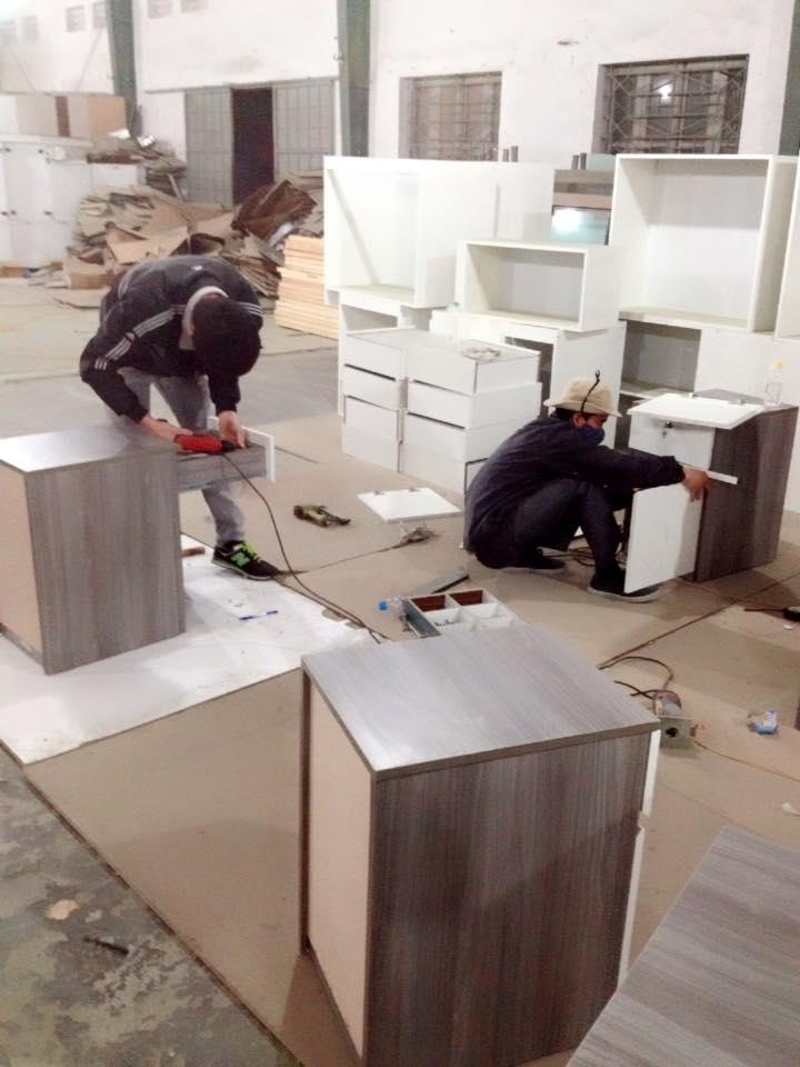 Lắp đặt tủ bếp gỗ công nghiệp
