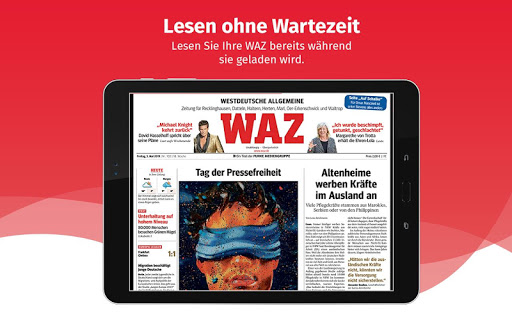 WAZ ZEITUNG DIGITAL - screenshot