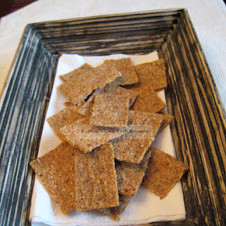 Flax Parmesan Crackers