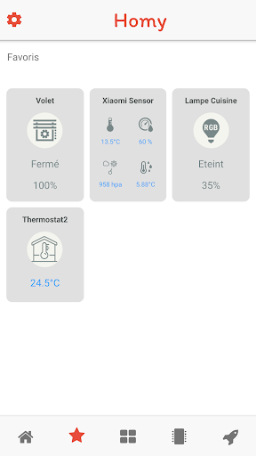 Download Homy for Domoticz, Home Assistant, ESP8266, MQTT on
