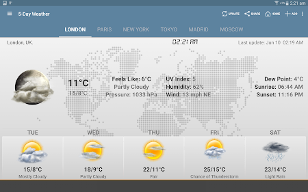 Weather & Clock Widget Android 5.0.1.2 screenshot 948