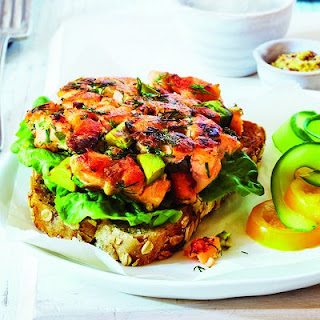 Salmon And Avocado Omega Burger