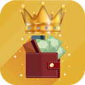 King wallet icon