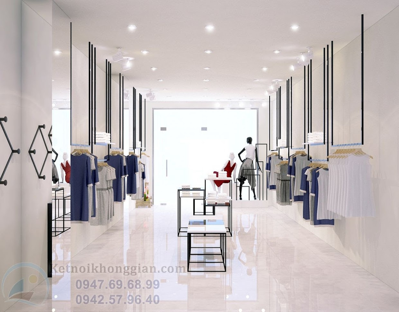 thiết kế shop quần áo thời trang công sở nư chuyên nghiệp tại miền bắc