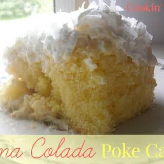 Pina Colada Poke Cake #SundaySupper.