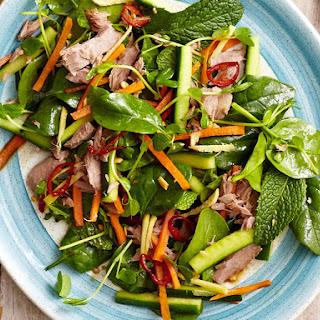 Asian Tuna and Spinach Salad.
