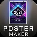 Poster Maker Flyer Maker 2021 free graphic Design icon