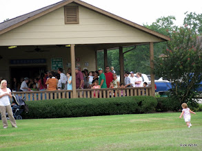 Photo: These folks are in line, which goes around the corner on the side of the station.     HALS 2009-0919