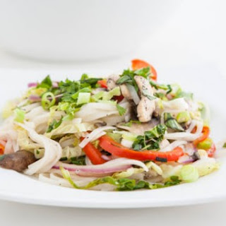 Thai Chicken and Cabbage Noodles.