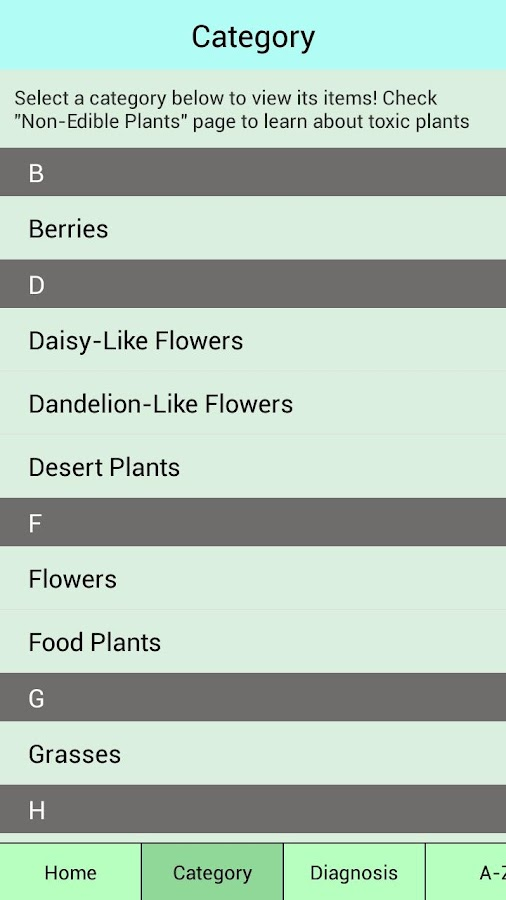 Edible Plant Guide- screenshot
