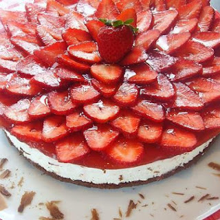 Chocolate - Strawberry Mascarpone Cake