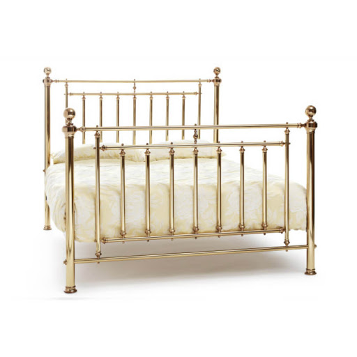 Serene Solomon Bed Frame Nickel