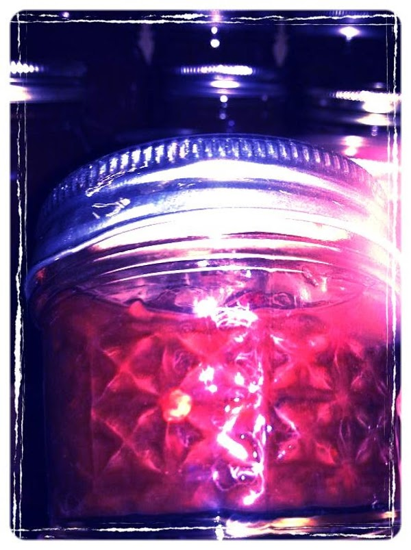 Put in sterilized jars to 1/4 inch headspace.  Remove any scum and air...