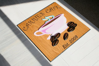 Photo: Carries Cafe Sign shipped to Wisconsin, more carved signs at www.nicecarvings.com