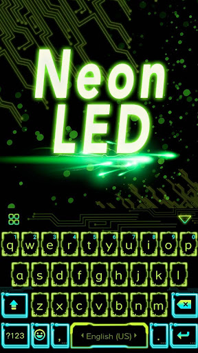 Neon Led Theme for iKeyboard