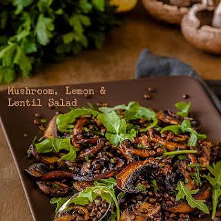 Mushroom, Lemon and Lentil Salad.