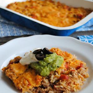 Pork Taco Rice Casserole