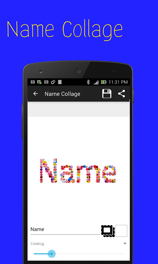 name collage maker
