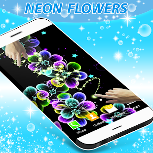 Neon Flowers Live Wallpaper- screenshot thumbnail