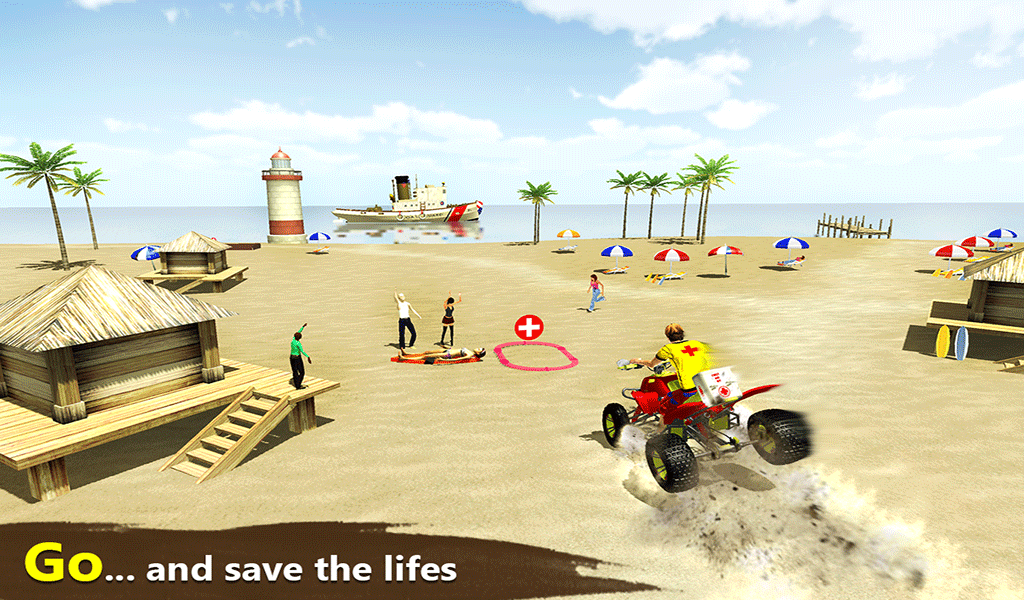 Beach Life ATV Rescue Bike- screenshot