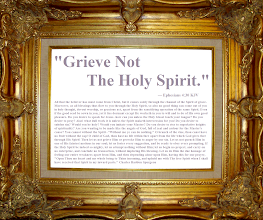 "Photo: Thanksgiving  ''Grieve Not The Holy Spirit.'' — Ephesians 4:30 KJV Ephesians 4 KJV; https://www.biblegateway.com/passage/?search=Ephesians%204&version=KJV;ESV  Audio; https://www.biblegateway.com/audio/mclean/kjv/Eph.4  All that the believer has must come from Christ, but it comes solely through the channel of the Spirit of grace. Moreover, as all blessings thus flow to you through the Holy Spirit, so also no good thing can come out of you in holy thought, devout worship, or gracious act, apart from the sanctifying operation of the same Spirit. Even if the good seed be sown in you, yet it lies dormant except He worketh in you to will and to do of His own good pleasure. Do you desire to speak for Jesus--how can you unless the Holy Ghost touch your tongue? Do you desire to pray? Alas! what dull work it is unless the Spirit maketh intercession for you! Do you desire to subdue sin? Would you be holy? Would you imitate your Master? Do you desire to rise to superlative heights of spirituality? Are you wanting to be made like the angels of God, full of zeal and ardour for the Master's cause? You cannot without the Spirit--""Without me ye can do nothing."" O branch of the vine, thou canst have no fruit without the sap! O child of God, thou hast no life within thee apart from the life which God gives thee through His Spirit! Then let us not grieve Him or provoke Him to anger by our sin. Let us not quench Him in one of His faintest motions in our soul; let us foster every suggestion, and be ready to obey every prompting. If the Holy Spirit be indeed so mighty, let us attempt nothing without Him; let us begin no project, and carry on no enterprise, and conclude no transaction, without imploring His blessing. Let us do Him the due homage of feeling our entire weakness apart from Him, and then depending alone upon Him, having this for our prayer, ""Open Thou my heart and my whole being to Thine incoming, and uphold me with Thy free Spirit when I shall have received that Spirit in my inward parts."" Charles Haddon Spurgeon  Daily Devotional: Morning and Evening; http://www.sermonaudio.com/sermoninfo.asp?SID=popme1121M  Audio; http://www.sermonaudio.com/playpopup.asp?SID=popme1121M  Daily Devotional: Morning, Evening and Checkbook Series by Charles Haddon Spurgeon (1834-92) http://www.sermonaudio.com/daily.asp?type=AM"