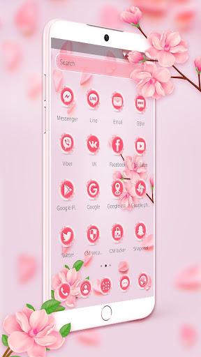 Beautiful Pink Flower Theme 1.1.6 screenshots 2