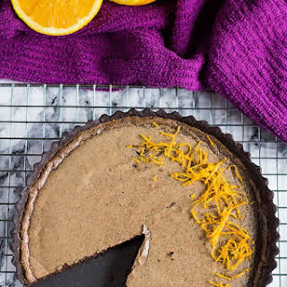 Dark Chocolate Orange Tart.