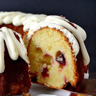 Cranberry Orange Pound Cake with Cream Cheese Glaze