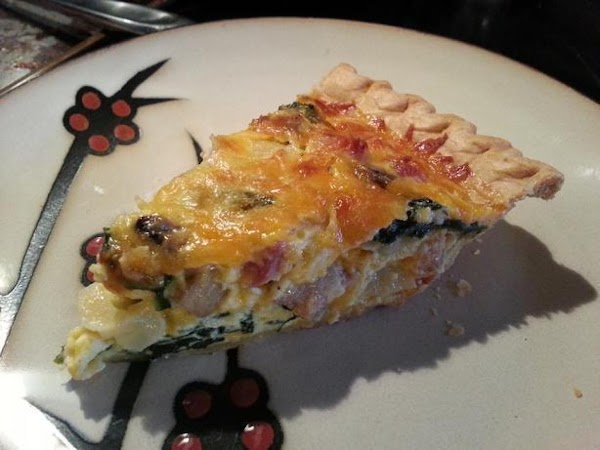 Easy Cheesy Spinach And Ham Quiche Recipe