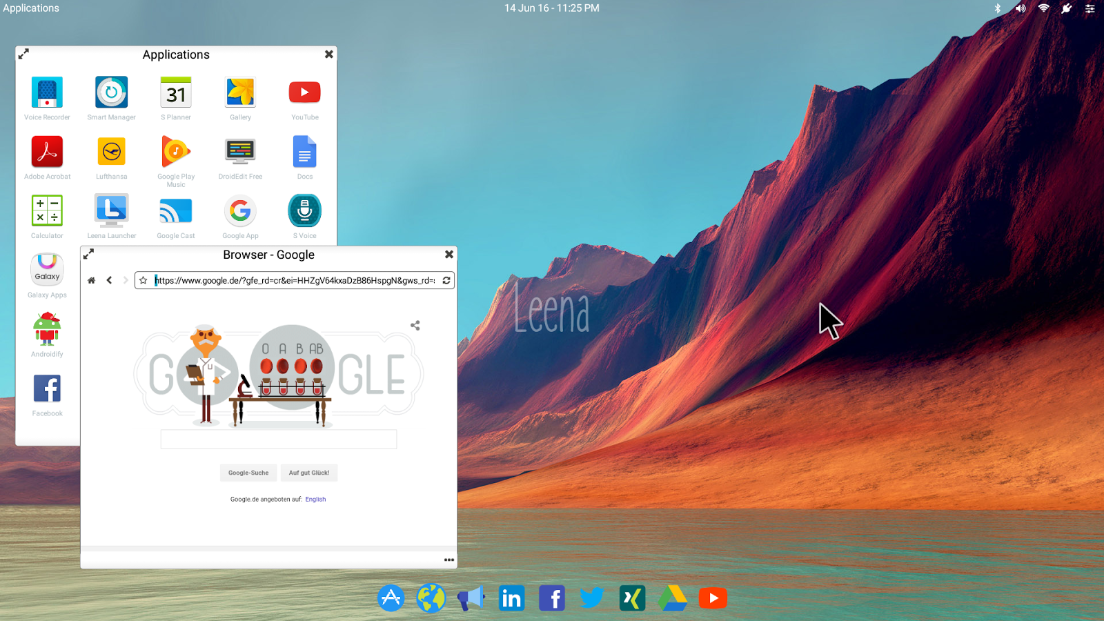 Leena Desktop UI (Multiwindow)- screenshot