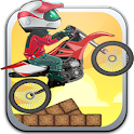 Extreme stunt bike race icon