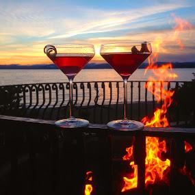 Veranda, Lake Tahoe by Dan Larsen - Food & Drink Alcohol & Drinks (  )