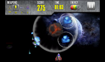 Screenshot of Galactic Shooter with mPOINTS