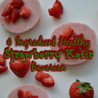 4 Ingredient Healthy Strawberry Kefir Bavarian