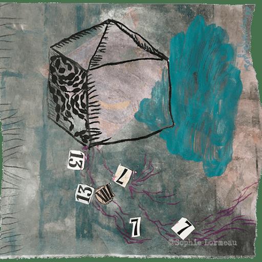 la-maison-de-la-chance-7-13-luck-loto--sophie-lormeau-peinture-artiste-contemporaine-papier-magazine-upcycling-chagall-singuler-art-figuratif-recyclage-colorful