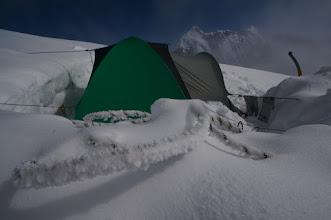 Photo: Camp 3. on East Ridge. 3650 m.