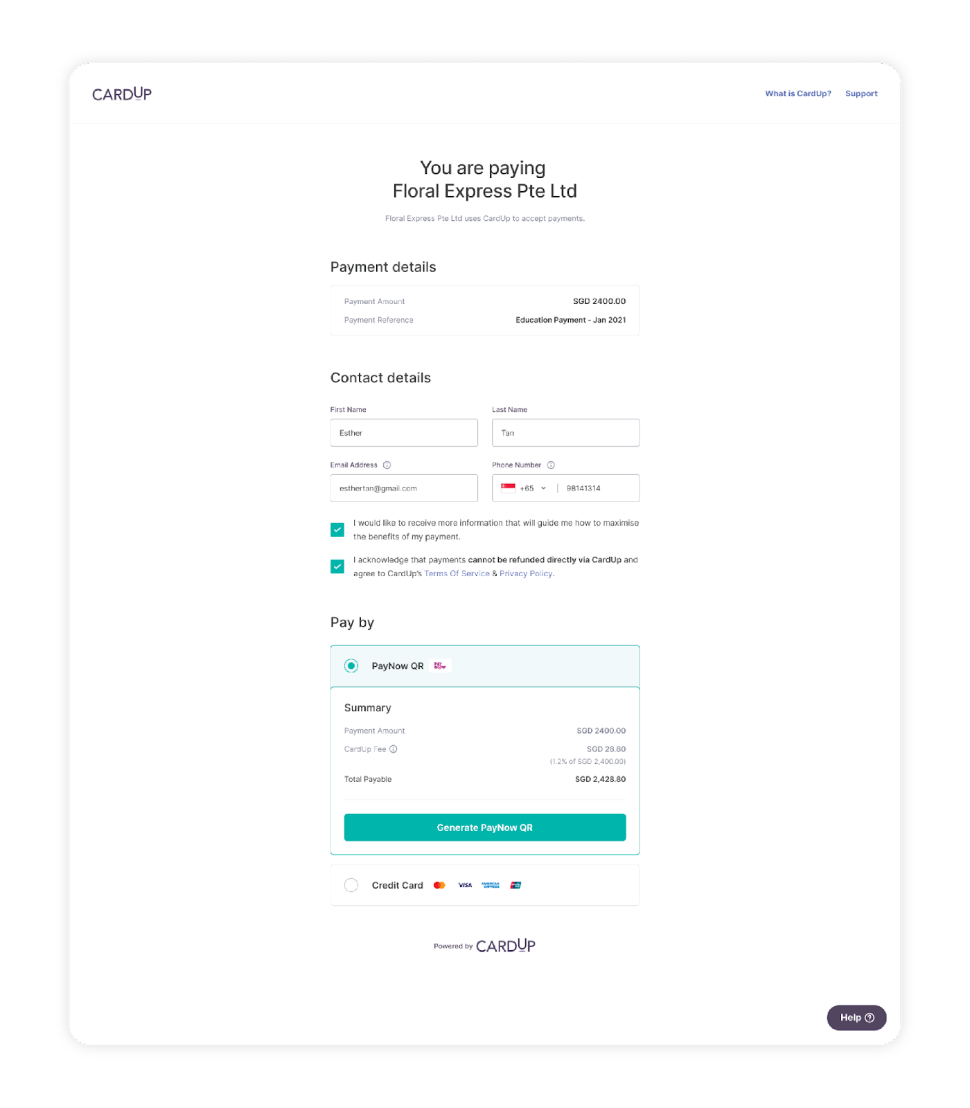 Get paid faster with CardUp