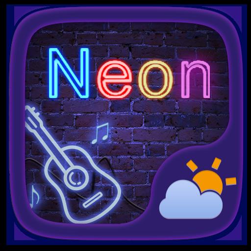 Neon GO Weather Widget Theme