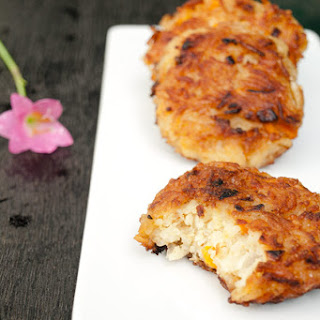 Rice patties Recipe with Carrots and Cheese.
